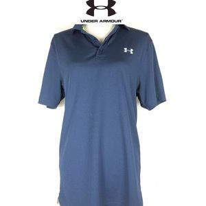 Under Armour navy button collar golf shirt sizeS/M